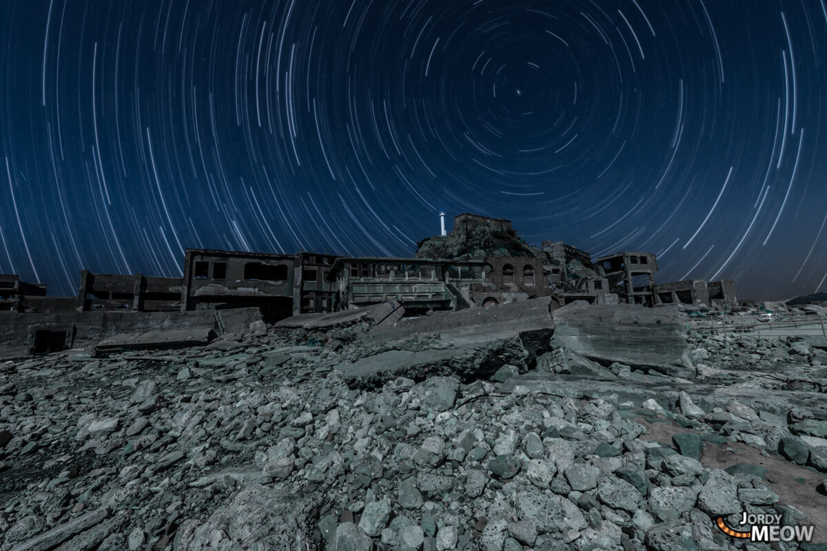 Gunkanjima Star Trail