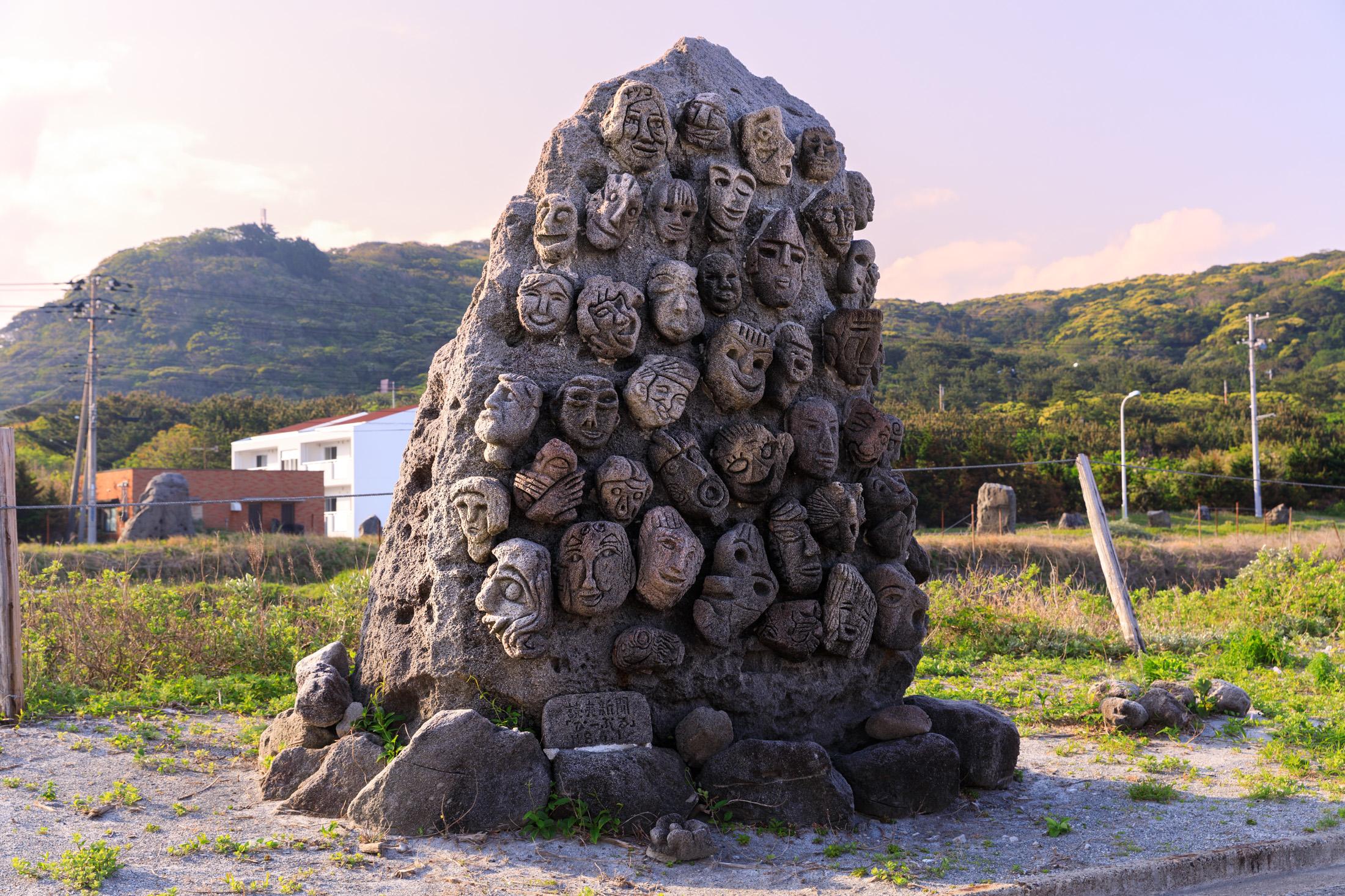 island, niijima, statue, thing