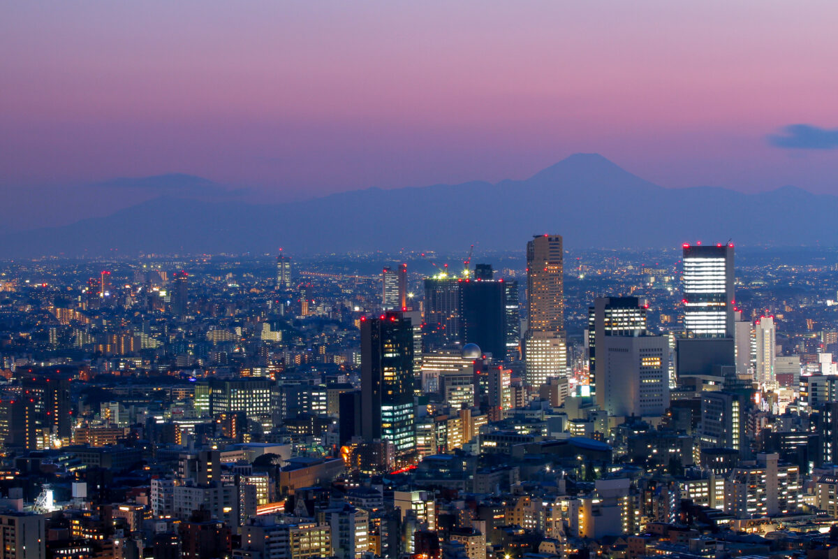 Roppongi Sunset Fuji Mount