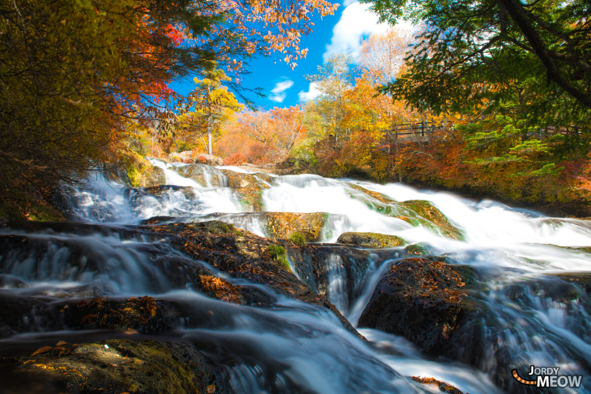 Autumn colors at Ryuzu Falls