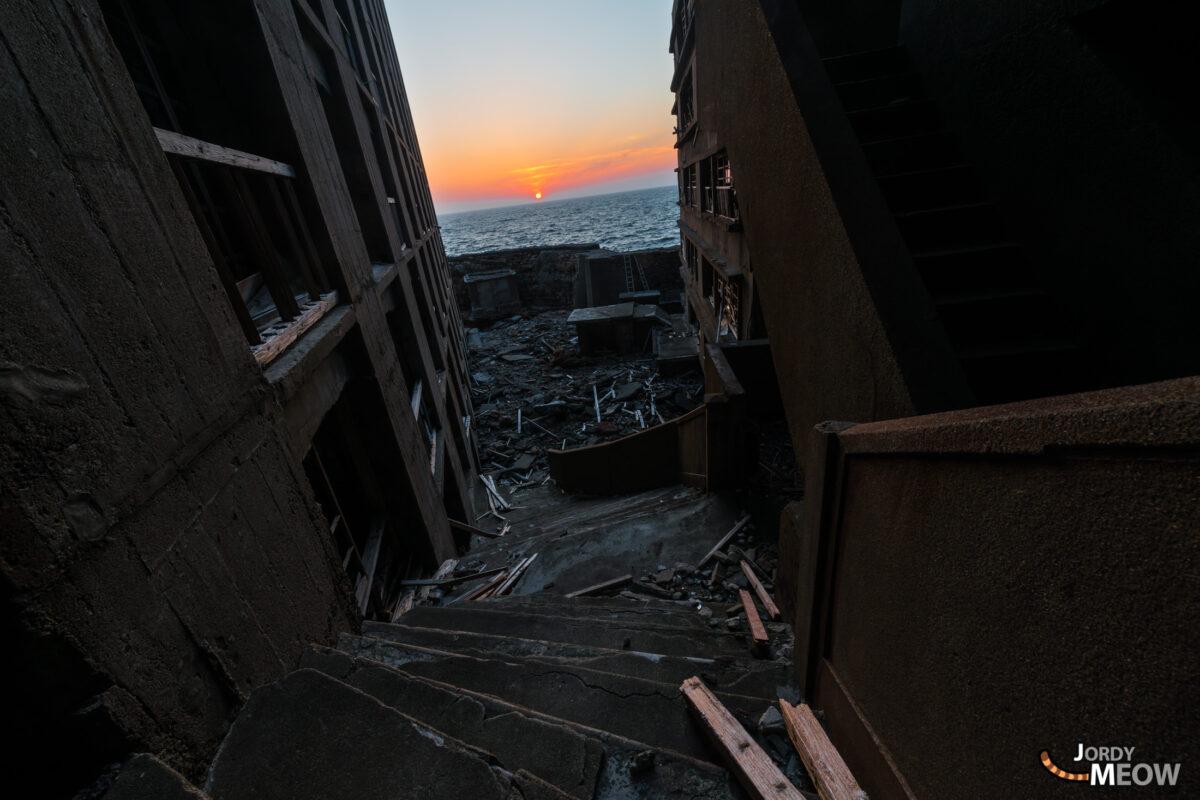 abandoned, asia, gunkanjima, haikyo, japan, japanese, kyushu, nagasaki, ruin, urban exploration, urbex