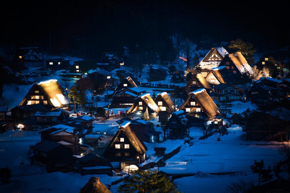 Shirakawa-go by night