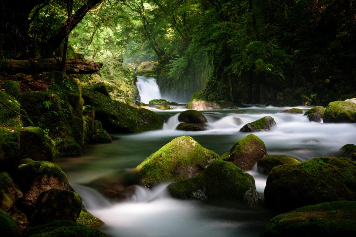 japan, japanese, kumamoto, kyushu, natural, nature, river, waterfall