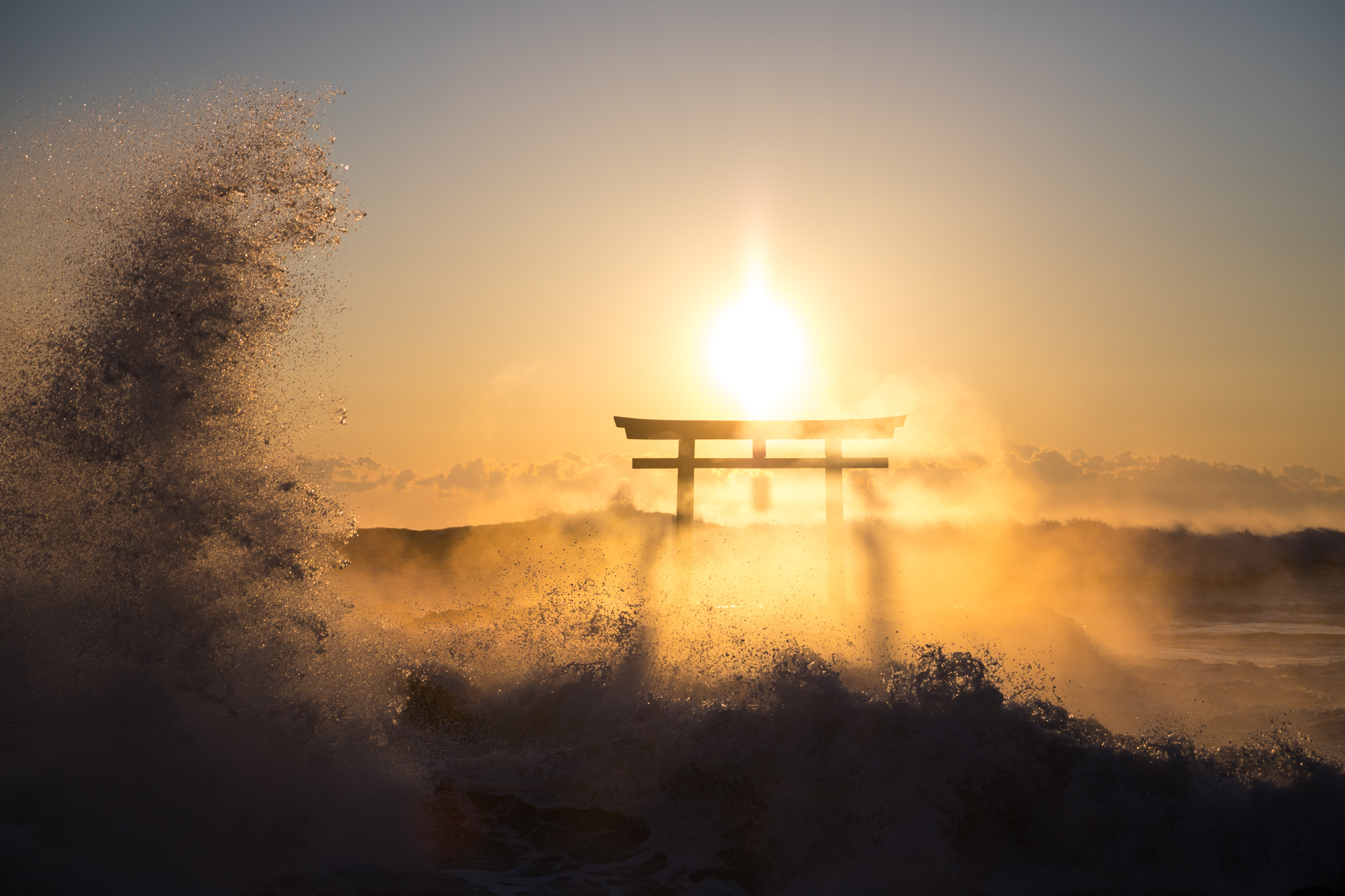 ibaraki, japan, japanese, kanto, natural, nature, ocean, religion, religious, sea, shinto, spiritual, sunrise, thing, tori