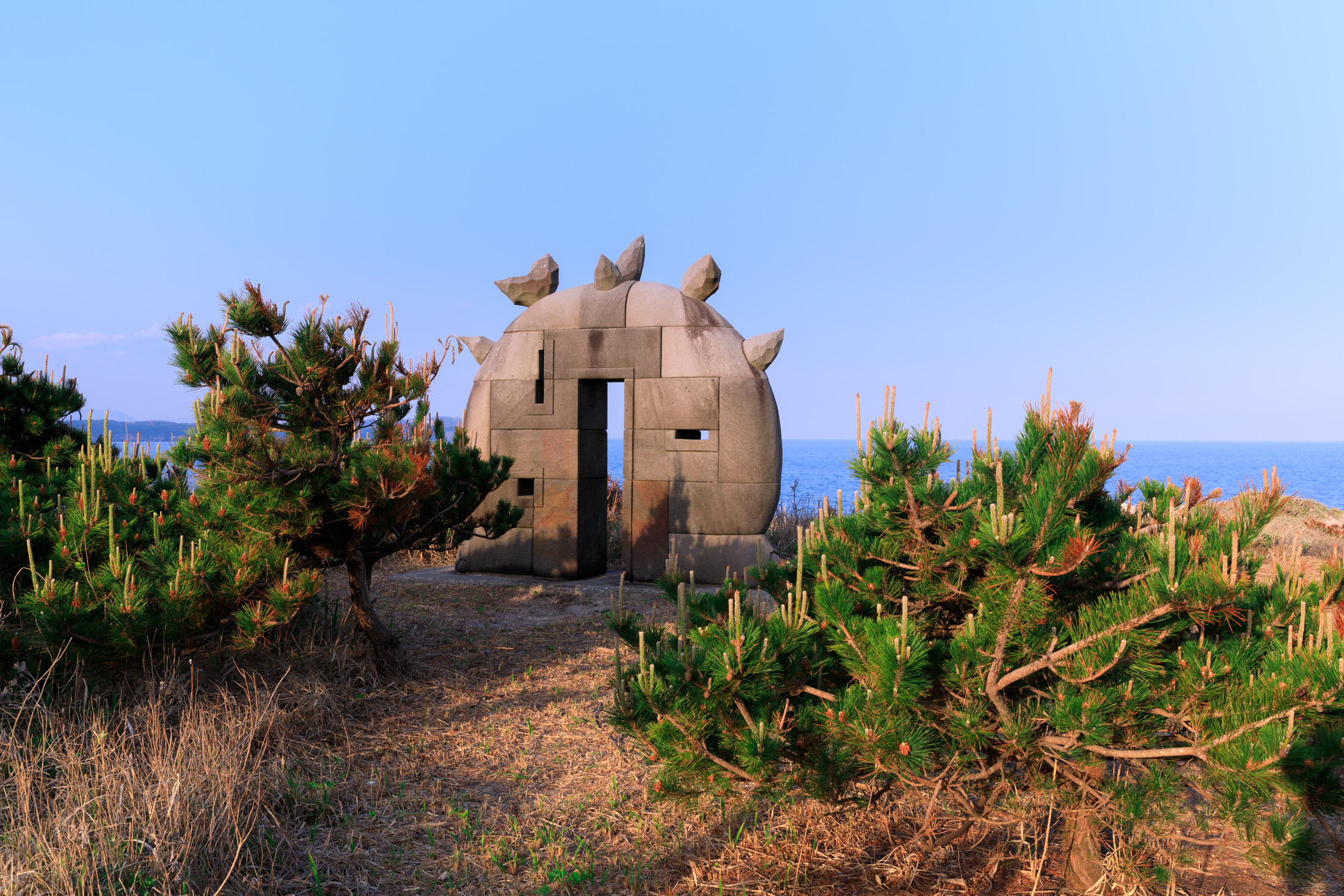 atmosphere, island, niijima, special, statue, sunset, thing