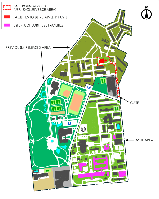 Map of the Fuchu Military Base