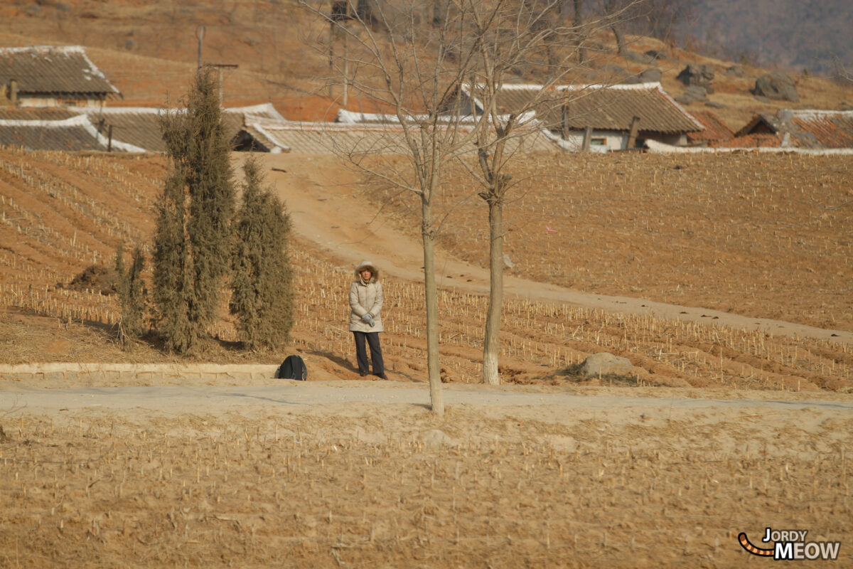Waiting for the Bus in North Korea