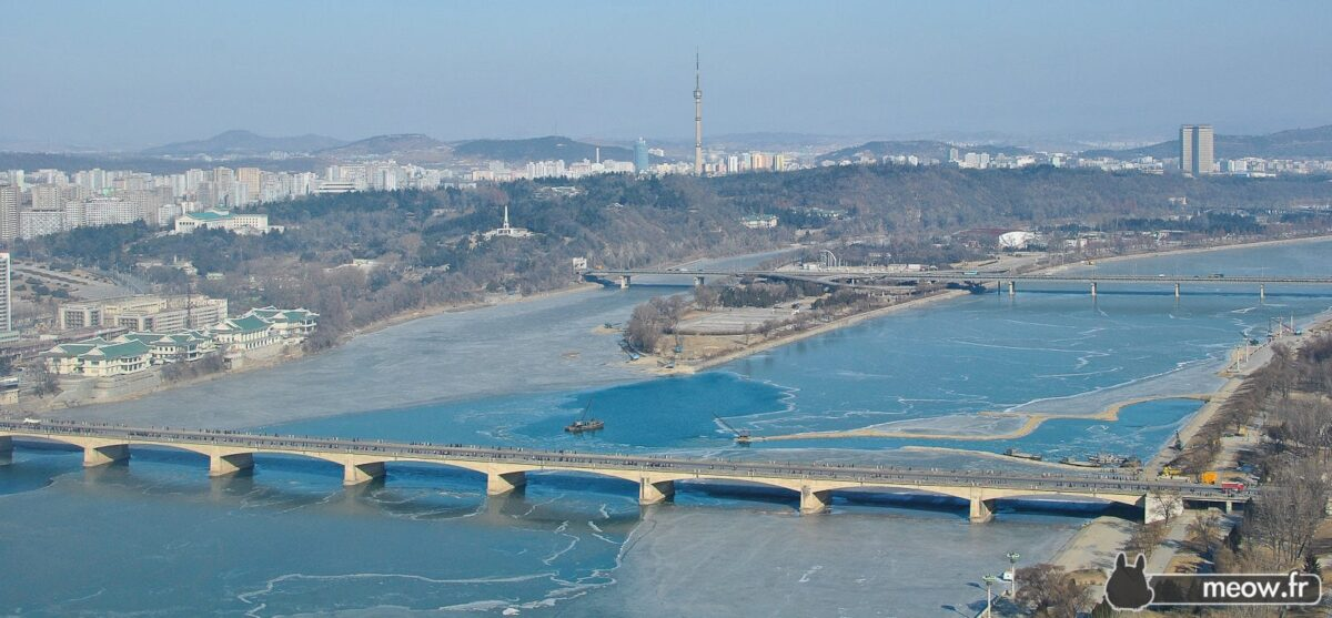 Frozen View in Pyongyang