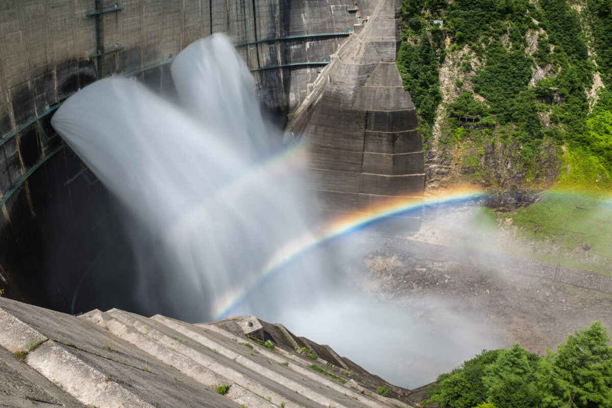 Everlasting Rainbow of the Kurobe Dam