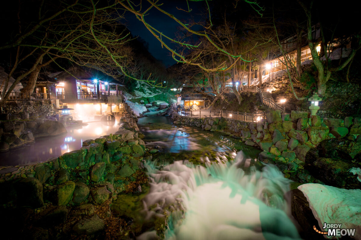 Onsen in Gunma by Night.