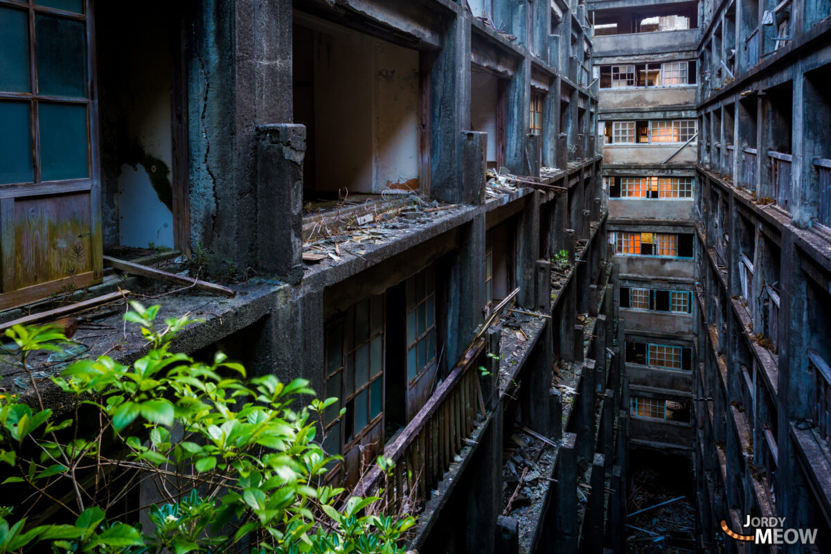 Hashima Balconies on Fire