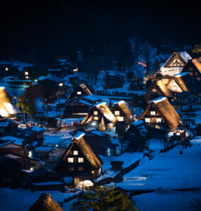 chubu, gifu, japan, japanese, shirakawago, winter