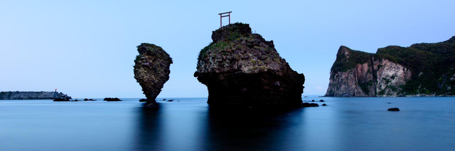 hokkaido, japan, japanese, natural, nature, ocean, religion, religious, rock, sea, shinto, spiritual, thing, tori