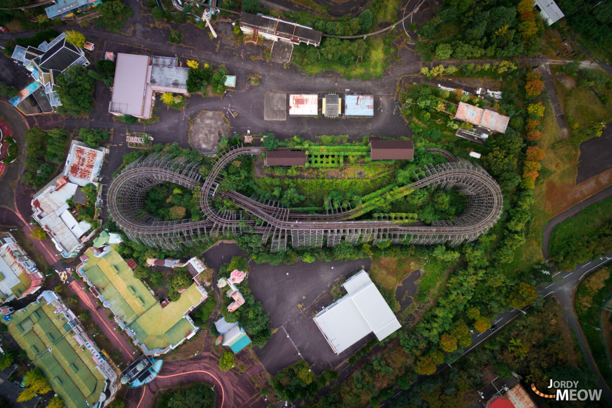 abandoned, amusement-park, asia, attraction-park, drone, haikyo, japan, japanese, kansai, nara, ruin, theme-park, urban exploration, urbex
